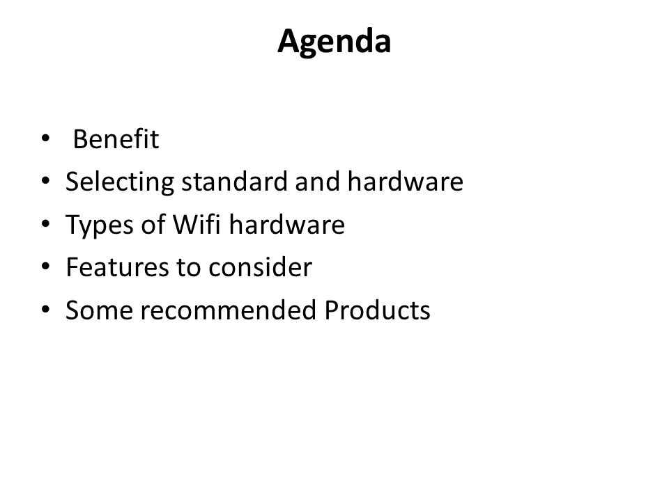 Selecting standard and hardware What do you want to do.