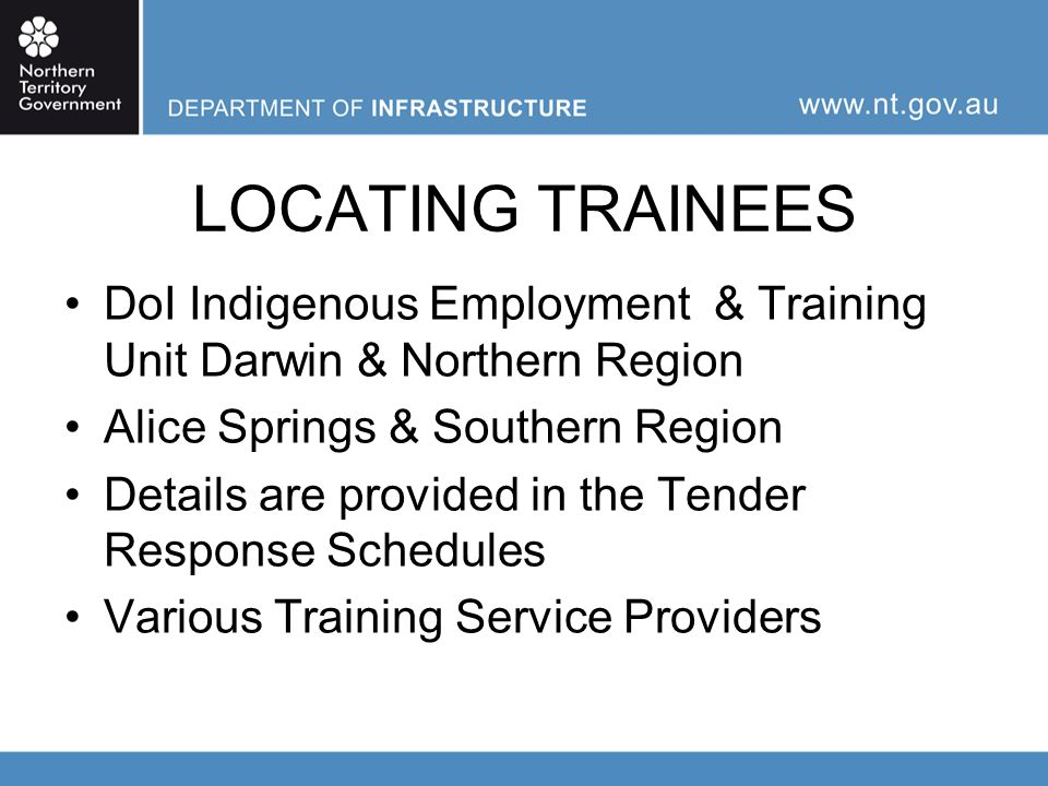 CONSTRUCTION PHASE Payment for employment & training Delivering Competency Based Qualifications Provide opportunity Gainful and meaningful work Gain experience Regular reporting on training provided