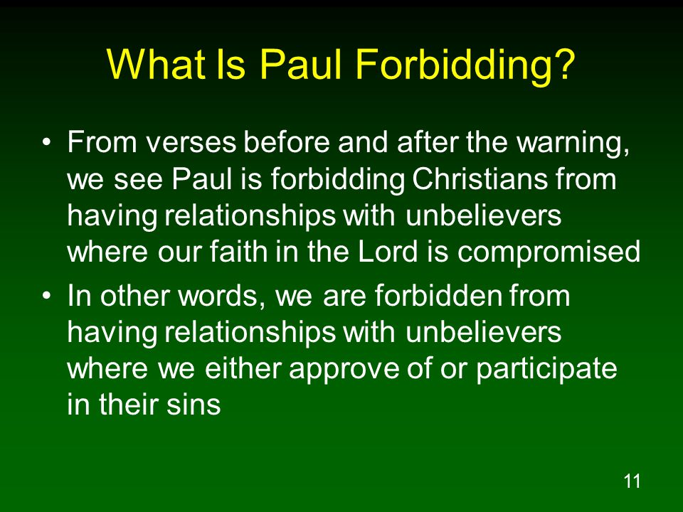 12 What Is Paul Forbidding.