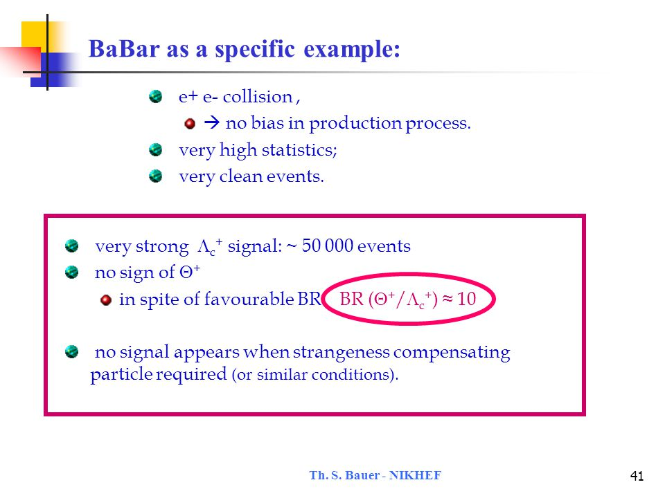 Th.S. Bauer - NIKHEF 42 Sensitivity of non-Sightings accord.