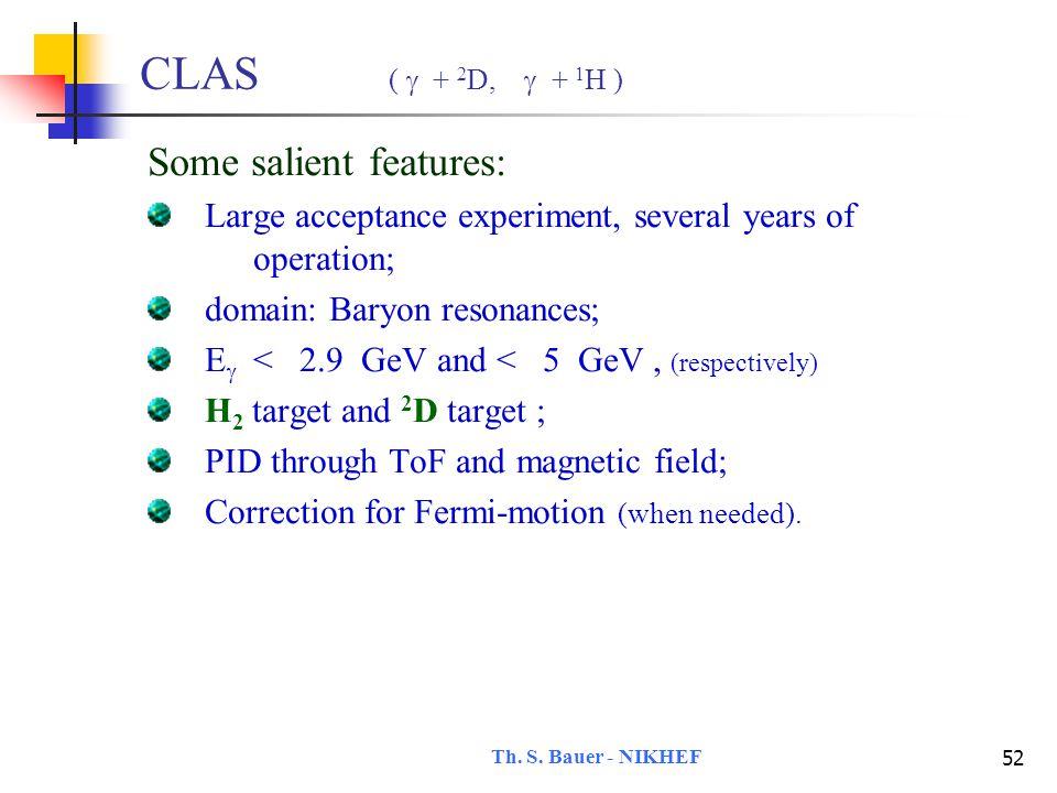 Th. S. Bauer - NIKHEF 53 CLAS g11-data