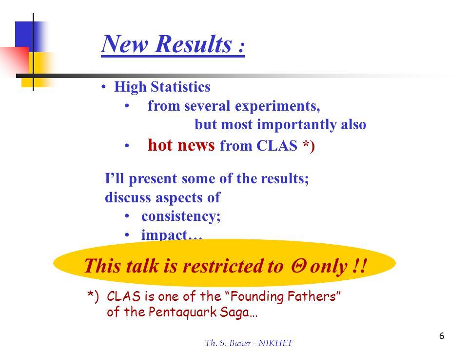 Th.S. Bauer - NIKHEF 7 Remark : Last talk here: Febr.