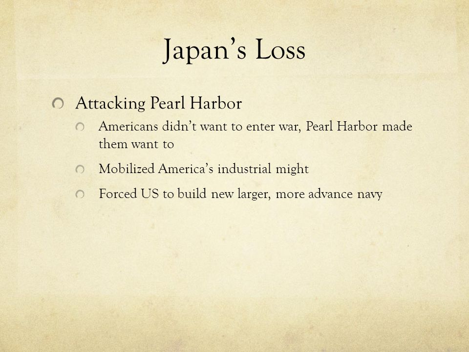 2 nd Reason Value of Aircraft carriers – US Battleship fleet destroyed, carriers untouched – US forced to use aircraft carriers more in early war – US learned new tactics of value of carriers before Japan – US invested heavier into carriers for rest of the war