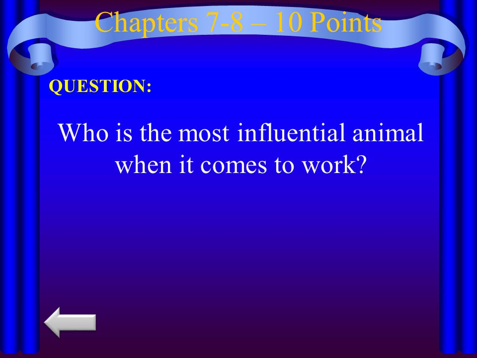 Chapters 7-8– 20 Points QUESTION: What does Napoleon forbid on the farm?