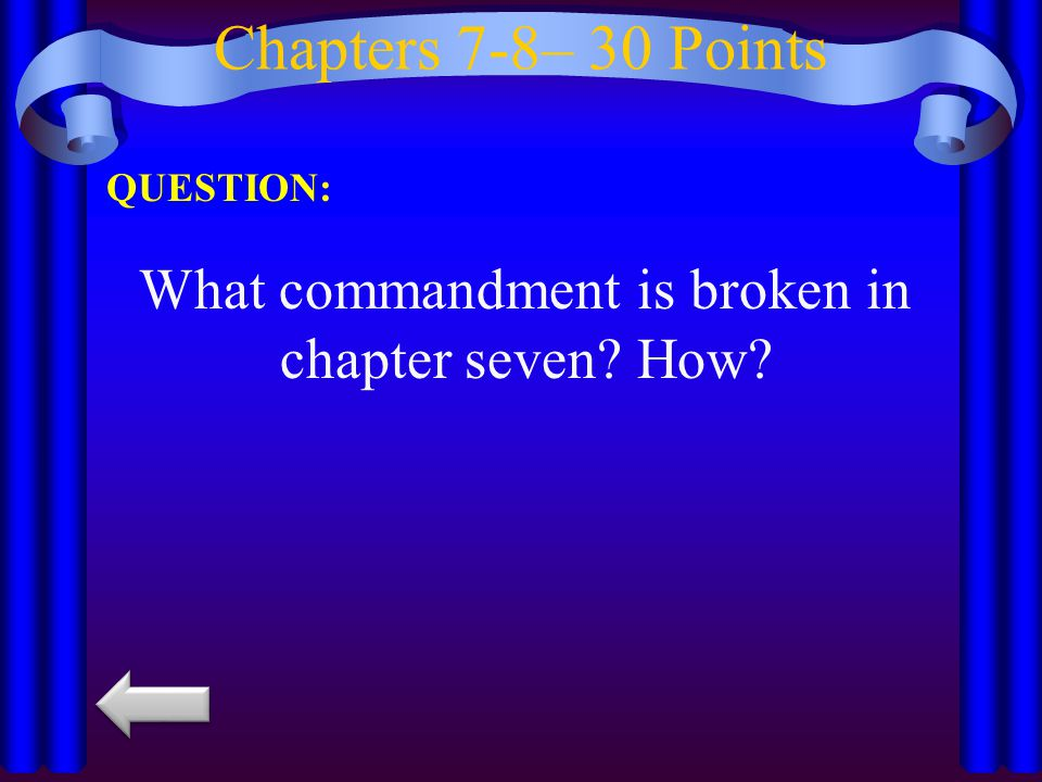 Chapters 7-8– 40 Points QUESTION: Who does Napoleon sell the timber to?