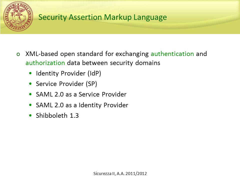 Sicurezza II, A.A.