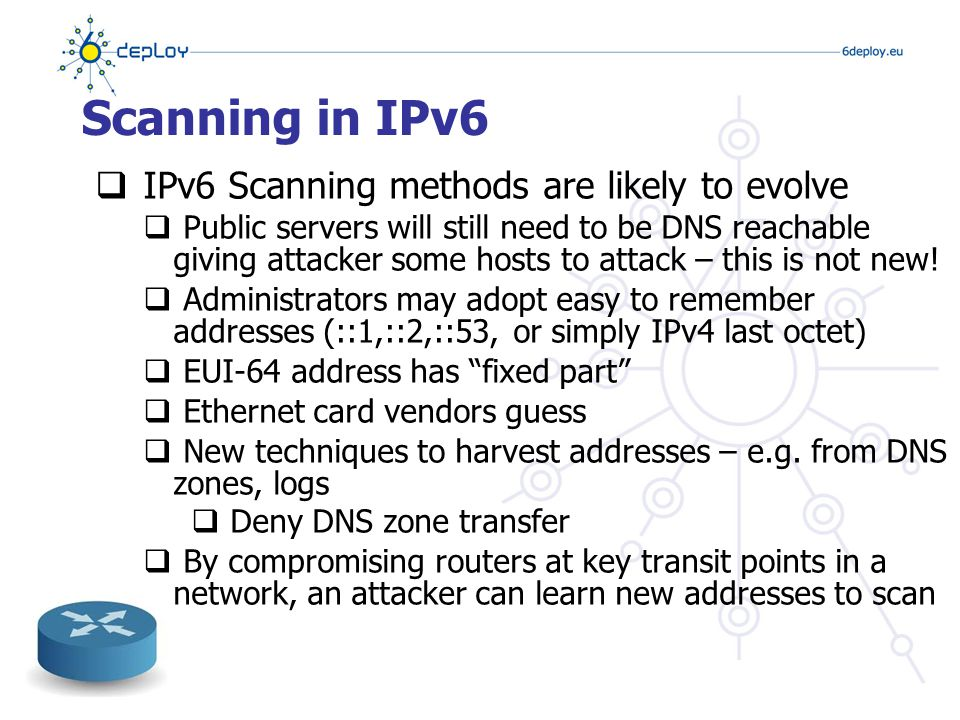 HW Address Resolution  Hardware address resolution is needed when transmitting IP (v4/v6) datagrams over an Ethernet / 802.11 or similar layer 2 segment  IPv4  ARP: address resolution protocol  A separate entity from the rest of the stack  IPv6  ARP features are folded into ICMPv6's ND (neighbor discovery) sub-protocol