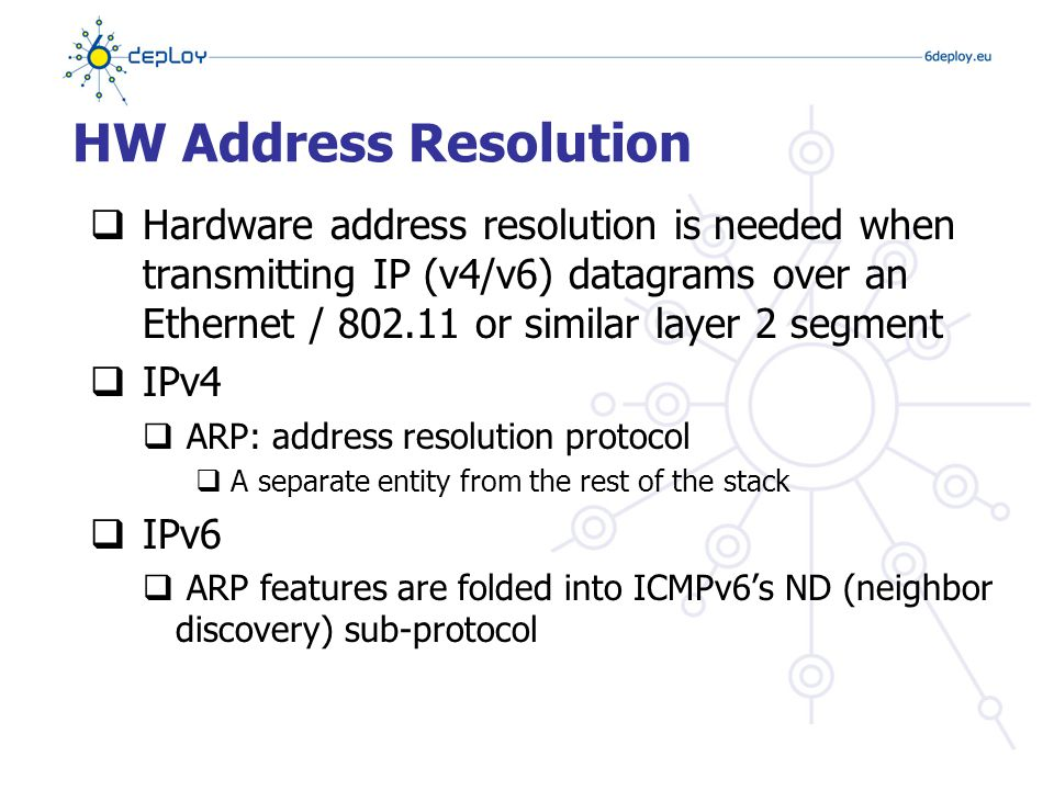 Host Auto-Configuration  Host-autoconfiguration allows plug-and-play network access  IPv4  DHCP  IPv6  Two ways: stateless and stateful  SLAAC: Stateless Auto Configuration (ICMPv6)  DHCPv6: similar to v4 DHCP, stateful