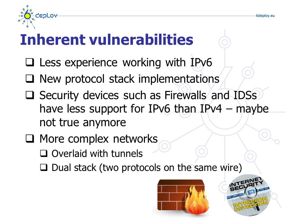 Neighbor Discovery Protocol  Instead of ARP (IPv4), IPv6 uses Neighbor Discovery Protocol (NDP)  NDP is based on ICMPv6  Instead of a broadcast (ARP), NDP uses Neighbor Solicitation / Neighbor Advertisement messages