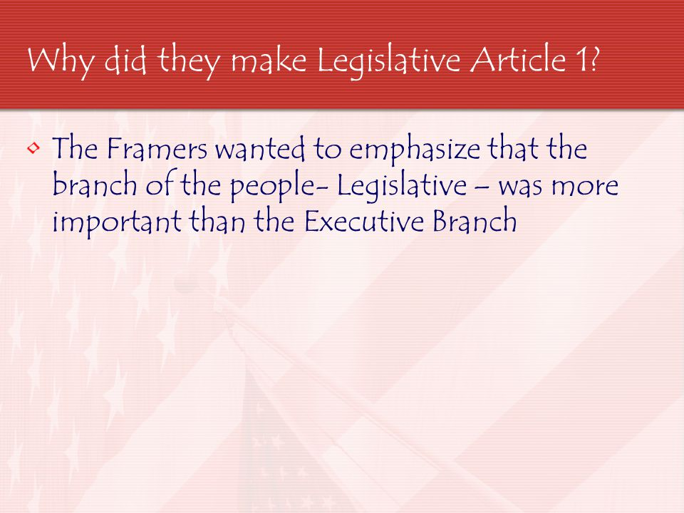 Article 2 - Created the Executive Branch Founders recognized the need for a strong National Government & gave the President broad but vaguely described powers Article 2 Section 2 & 3 list out some of the specific Presidential Powers