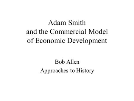 the influence of the conflicting theories of david ricardo and adam smith on modern economics Keywords: comparative advantage, david ricardo, adam smith, international trade theory, division of labor, free comparative advantage attributed to fellow classical political economist david ricardo some scholars have even gone as far as to affirm that smith and ricardo had opposing logics of trade 7 prior research.