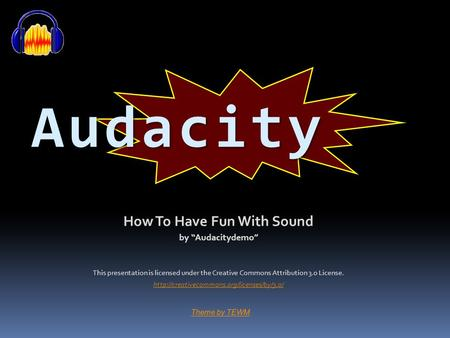 How To Have Fun With Sound