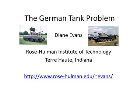 The German Tank Problem