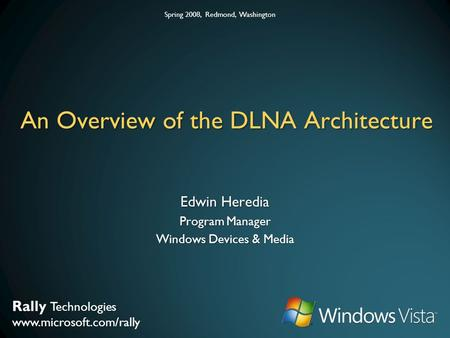 An Overview of the DLNA Architecture