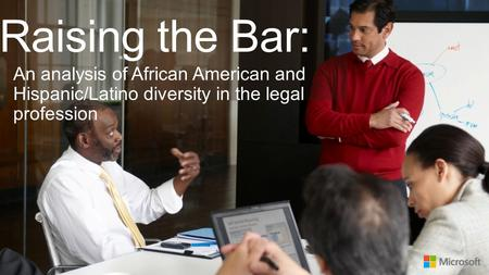 Raising the Bar: An analysis of African American and Hispanic/Latino diversity in the legal profession.