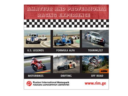 DRIVING EXPERIENCE. Program A. PAIR RACING EXPERIENCE Skills Required: Amateur Driver/ Group Size: 15 persons Description: the program is intended for.