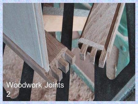 Woodwork Joints 2. Dowel Joint Dowel Jig Dowel joints have now replaced many traditional joints in factory made furniture where holes can be drilled accurately.