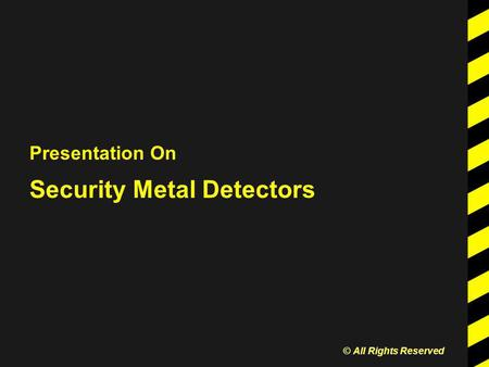 Presentation On Security Metal Detectors © All Rights Reserved.