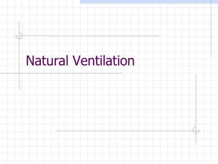 Natural Ventilation. 2 Calculation of rate of ventilation air flow Q = H/(60 * C P * ρ * Δt) = H/1.08 * Δt Where H = Heat removed in Btu/hr Δt = indoor.