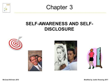 McGraw-Hill/Irwin 2010 Modified by Jackie Kroening 2011 SELF-AWARENESS AND SELF- DISCLOSURE Chapter 3.