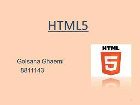 HTML5 Golsana Ghaemi 8811143 1. Introduction Page Structure Multimedia Forms Canvas Storage Drag & Drop 2.