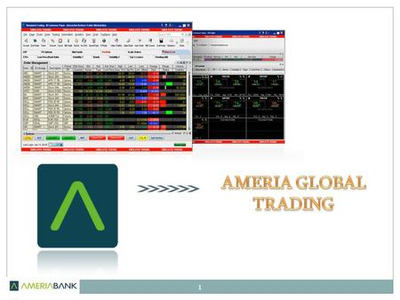 1. 2 Dear Customer! This material is intended to give you understanding of the basic functions of AMERIA GLOBAL TRADING required for collecting information.