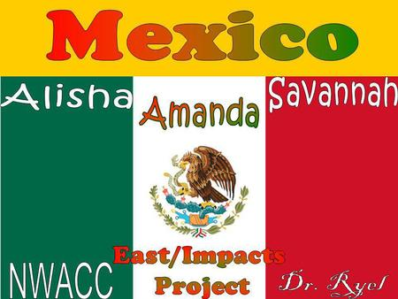 Our goal was to develop a map that showed Mexicos different culture regions for Mrs. James Spanish classroom at Huntsville High School. Our task was to.