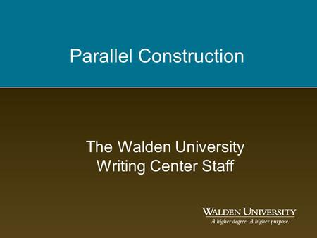 Walden writing center