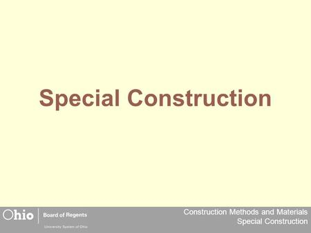Special Construction.