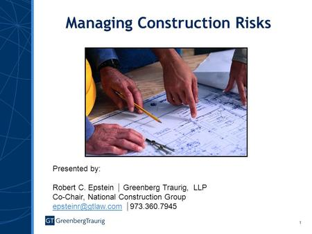 Managing Construction Risks