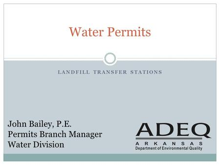 Landfill transfer stations