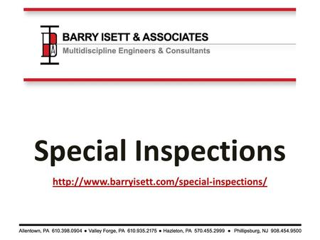 Special Inspections