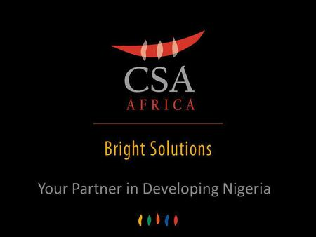 Your Partner in Developing Nigeria