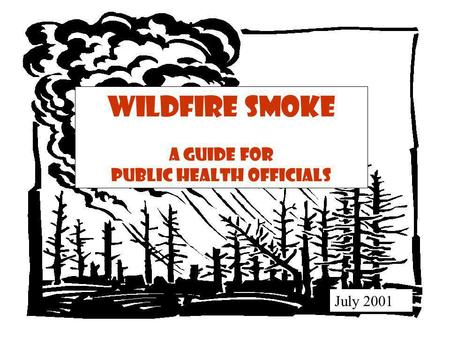 Wildfire Smoke A Guide for Public Health Officials July 2001.