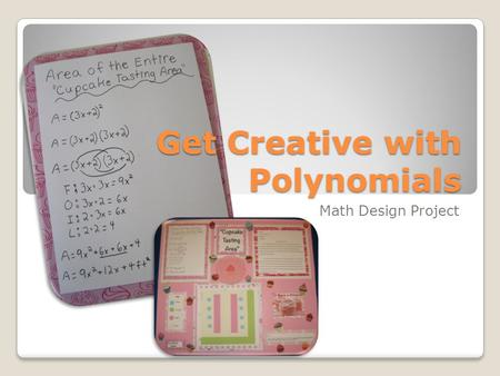 Get Creative with Polynomials Math Design Project.