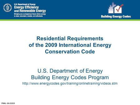 U.S. Department of Energy Building Energy Codes Program