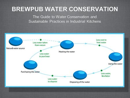 BREWPUB WATER CONSERVATION The Guide to Water Conservation and Sustainable Practices in Industrial Kitchens.