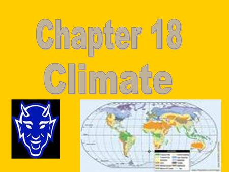 Chapter 18 Climate.
