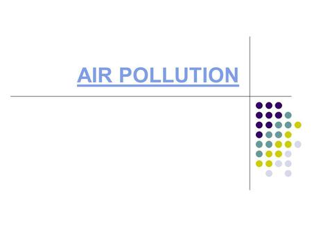 AIR POLLUTION. Lecture Objectives By the end of this lesson you will be able to: 1. Name some of the problems and costs associated with air pollution.