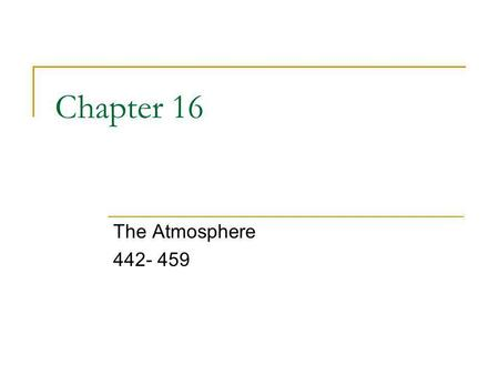 Chapter 16 The Atmosphere 442- 459. Section 1 A thin layer of air that helps to protect the Earth. _____________________________ Layers of the Atmosphere.