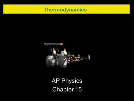 Thermodynamics AP Physics Chapter 15.