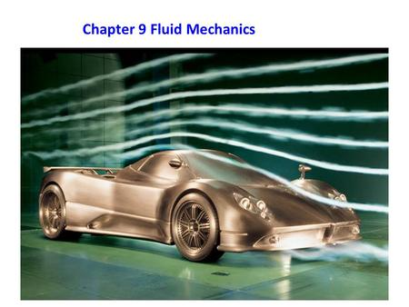 Chapter 9 Fluid Mechanics. 9-2 Fluid Pressure and Temperature Pressure – a measure of how much force is applied over a given area. Formula: P = F/A Pressure.