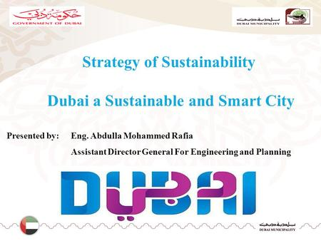 Strategy of Sustainability Dubai a Sustainable and Smart City