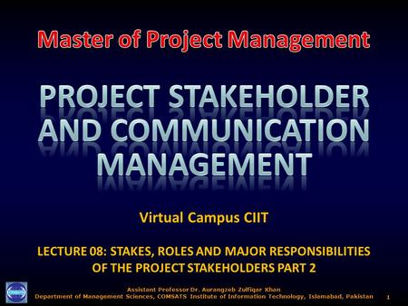 Project Stakeholder AND COMMUNICATION Management