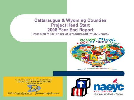 Cattaraugus & Wyoming Counties Project Head Start 2008 Year End Report Cattaraugus & Wyoming Counties Project Head Start 2008 Year End Report Presented.