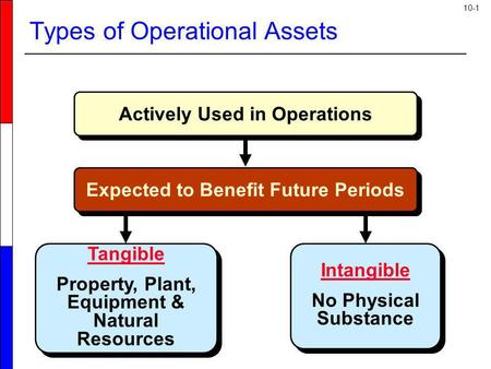 10-1 Actively Used in Operations Tangible Property, Plant, Equipment & Natural Resources Tangible Property, Plant, Equipment & Natural Resources Intangible.