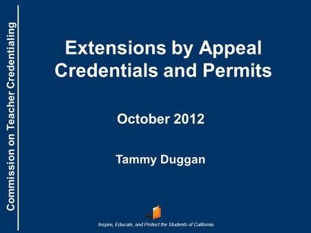 Extensions by Appeal Credentials and Permits