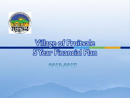 What is a Financial Plan Required under the Community Charter Future planning for works and services Maintaining current service levels Consider future.