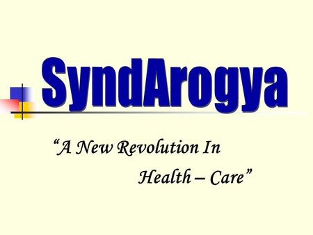 """A New Revolution In Health – Care"""