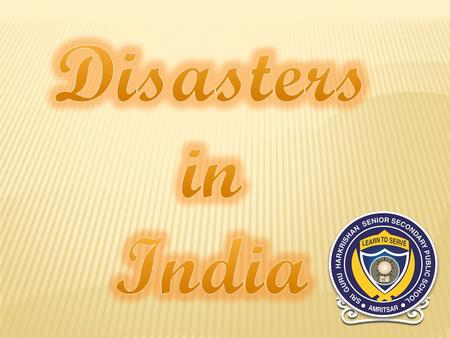 Natural disasters from 1980 to 2012 An overview No. of event : 431 No. of people killed : 143,039 Average killed per year : 4,614 No. of people affected.